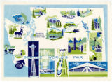 Seattle World's Fair placemat, 1962