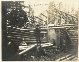 Mountaineers lodge construction, Rockdale, Washington, June 21, 1914