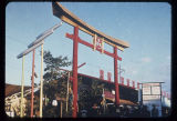 Torii at the entrance to the Japanese Village, Seattle World's Fair, 1962