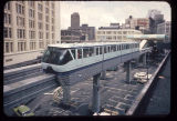 The Monorail in downtown Seattle, 1962