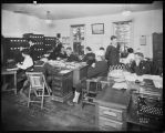 Office interior at the Naval Training Station, ca. 1918