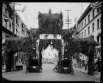 Chinese arch at the Go-Hing carnival, May 1921