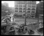 Pioneer Square : moving the totem pole, ca. 1923