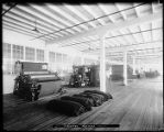 Finishing machinery at Kirkland woolen mill, ca. 1921