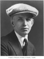 Sports broadcaster Leo Lassen, Seattle, ca. 1932