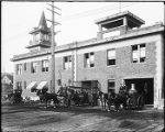 Georgetown Fire Station and crew, 1915
