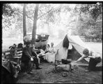Campers in Woodland Park, between 1918 and 1920