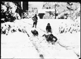 Children sledding, ca. 1920