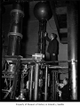 Joseph E. Henderson working with the atom smasher at the University of Washington, Seattle, 1939