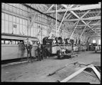 Crew assembling buses at Pacific Car and Foundry, July 13, 1939