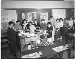 Students in classroom, January 1949