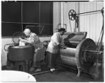 Women at work in a commercial laundry, ca. 1949