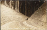 Big road cut on Sunset Highway near Snoqualmie Pass, ca. 1915