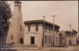 City hall and tower, Kent, Washington, ca. 1908