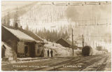 Great Northern railroad depot at the Cascade Tunnel, ca. 1910s