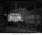 Admiral Theatre opening night, Seattle, January 22, 1942