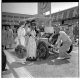 People in period clothing at the Alaska-Yukon-Pacific Exposition day, Seattle World's Fair, June...