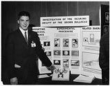 High school student Lewis Haberly at the National Science Fair, Seattle World's Fair, May 1962