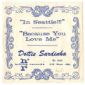 """In Seattle!!!"" by Dottie Sardinha,  souvenir record from the Seattle World's Fair, 1962"