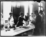 Serving food to striking workers, February 1919