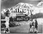 KING-TV station graphic, 1949