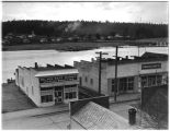 Businesses along Swinomish Channel in La Conner, Washington, 1939