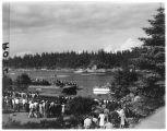 Race finish at Lake Washington regatta, June 1947