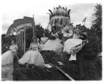 Queen's Float in parade, Shelton, Mason County, Washington, May 1953