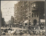 Golden Potlatch parade in Pioneer Square, Seattle, July 1911