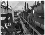 U.S. Army transport ship St. Mihiel in Seattle, loaded with passengers bound for Matanuska,...