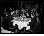 Women eating in Georgian Room at Olympic Hotel, Seattle, 1948