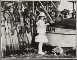 "Christening of the seaplane ""Tilikum"" during the Golden Potlatch, Seattle, July 1914"