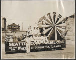 Seattle Commercial Club float in the Golden Potlatch parade, Seattle, ca. 1913