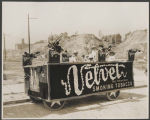 Velvet tobacco parade float in  Golden Potlatch parade, Seattle, ca. 1913