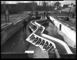 Puyallup River flood control model at the University of Washington, 1938