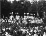 "Cast of the ""Pageant of Democracy"" on and in front of stage, Woodland Park, Seattle,..."