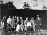 """Pageant of Democracy"" performers in costume, Woodland Park, Seattle, July 5, 1920"