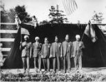 "Six men in turbans performing in the ""Pageant of Democracy,"" Woodland Park, Seattle, ,..."