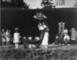 "Woman and girl performing in the ""Pageant of Democracy"" in Woodland Park, Seattle, July..."
