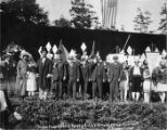 "Performers from the ""Pageant of Democracy"" at Woodland Park, Seattle, July 5, 1920"