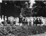 "Performers in the ""Pageant of Democracy"" at Woodland Park, Seattle, July 5, 1920"