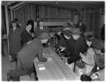 Internees registering at Camp Harmony, Puyallup, 1942