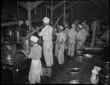 Cooks in the mess hall at Camp Harmony, Puyallup, 1942