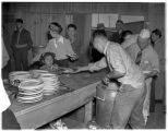 Meal time at Camp Harmony, Puyallup, 1942