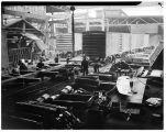 Railroad car assembly line at Pacific Car and Foundry Company factory, Renton, August 1941