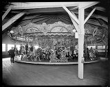 Carousel at entrance to Woodland Park, 1924