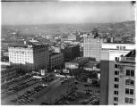 Birds-eye view of Seattle, looking northeast, 1937