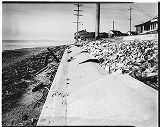Damaged sea wall on Alki Beach, Seattle, 1937