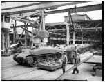 Tank assembly line, Pacific Car and Foundry factory, Renton, 1943
