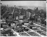 Aerial view of Seattle's business district, 1937